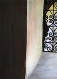 moroccan fönster Royaltyfri Fotografi