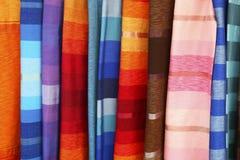 Moroccan fabrics stock image