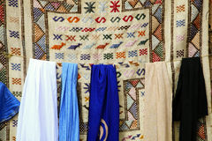 Moroccan fabrics Royalty Free Stock Photography
