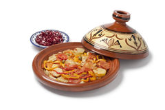 Moroccan fish tajine Royalty Free Stock Image