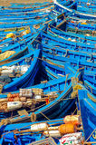 Moroccan fishing boats 1 stock images