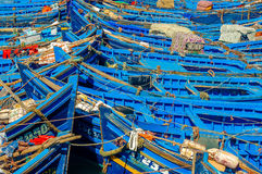 Moroccan fishing boats 2 royalty free stock image