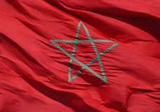 Moroccan Flag. A Moroccan national flag with the green star on the red background Stock Photography