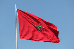Moroccan flag Royalty Free Stock Images