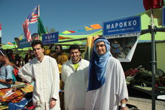 moroccan folk Royaltyfri Fotografi
