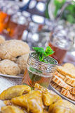 Moroccan food and drink Royalty Free Stock Image