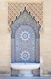Moroccan fountain. With mosaic tiles Stock Photos