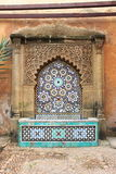 Moroccan fountain with mosaic tiles Royalty Free Stock Photography