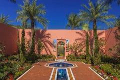 Moroccan Garden. A beautiful atmosphere of Moroccan Garden Stock Photo
