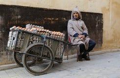 moroccan gatasäljare Fotografering för Bildbyråer