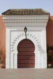 Moroccan gate in Marrakesh Stock Photos