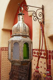 Moroccan glass and metal lanterns lamps in  souq Royalty Free Stock Image