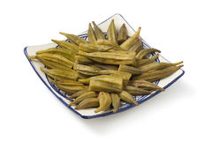 Moroccan green okra salad Stock Images
