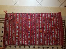 Moroccan handmade carpet stock photos