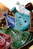 Moroccan handmade pottery Royalty Free Stock Photo