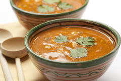 Moroccan harira soup Stock Photos