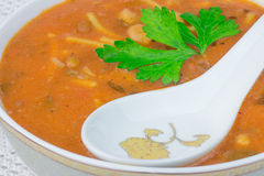 Moroccan harira soup Royalty Free Stock Images