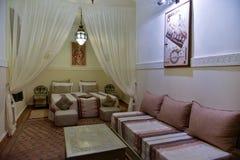 Moroccan house bedroom interior Royalty Free Stock Photos