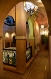 Vaulted corridor, Moroccan house interior Royalty Free Stock Photo