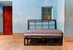 Moroccan house interior sofa bed. Traditional Moroccan house interior with sofa bed Stock Image