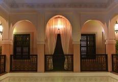 Moroccan house riad interior Stock Photo