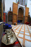Moroccan indoor architecture. Of a riad Stock Photos