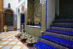 Moroccan indoor architecture. Of a riad Stock Image