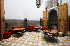 Moroccan indoor architecture Royalty Free Stock Photography