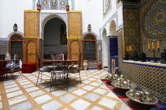 Moroccan indoor architecture. Of a riad Royalty Free Stock Image