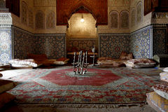 Moroccan indoor architecture Royalty Free Stock Images