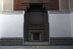 Moroccan indoor architecture. Moroccan architecture in Dar Jamai Museum, Meknes, Africa Royalty Free Stock Photo