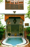 Moroccan interior riad Royalty Free Stock Photos
