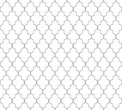 Moroccan islamic seamless pattern background in black and white. Vintage and retro abstract ornamental design. Simple. Flat vector illustration Royalty Free Stock Photo