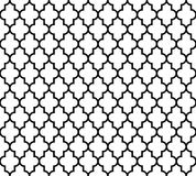 Moroccan islamic seamless pattern background in black and white. Vintage and retro abstract ornamental design. Simple. Flat vector illustration Stock Images