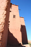 Moroccan kasbah. Traditional Arab Moroccan house into ancient kasbah  (casbah Royalty Free Stock Photos