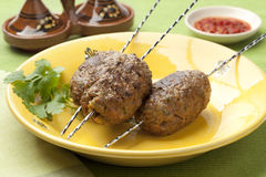 Moroccan kefta kebab Royalty Free Stock Images