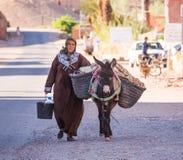 moroccan kvinna Arkivbild