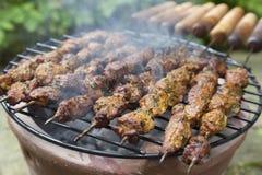 Moroccan lamb kebab on a stove Stock Photography