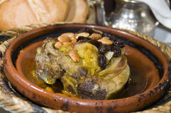 Moroccan lamb tagine  in marrakech Stock Images