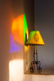 Moroccan lamp with coloured lights Royalty Free Stock Image