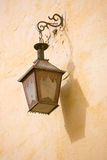 Moroccan Lamp Shadow. A Moroccan lamp hung on wall Stock Photos