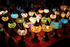 Moroccan Lamps Royalty Free Stock Photography