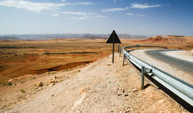 Moroccan landscape. The Moroccan landscape and road Stock Images