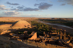 Moroccan landscape. View of a Moroccan landscape Stock Image