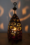 Light candle lantern Royalty Free Stock Photos