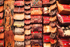 Moroccan Leather Bag Royalty Free Stock Photo