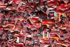 Moroccan leather rags Stock Photos