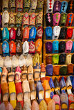 Moroccan leather shoes Royalty Free Stock Image
