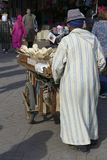 Moroccan man in white jellaba royalty free stock photography