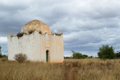 Moroccan mausoleum in a stormy weather Royalty Free Stock Image